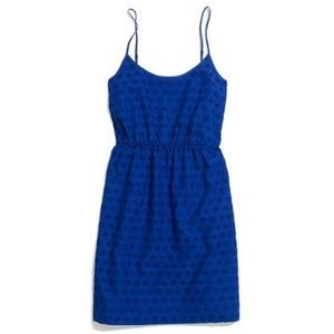 Madewell Embroidered Eyelet Cami Cobalt Sundress